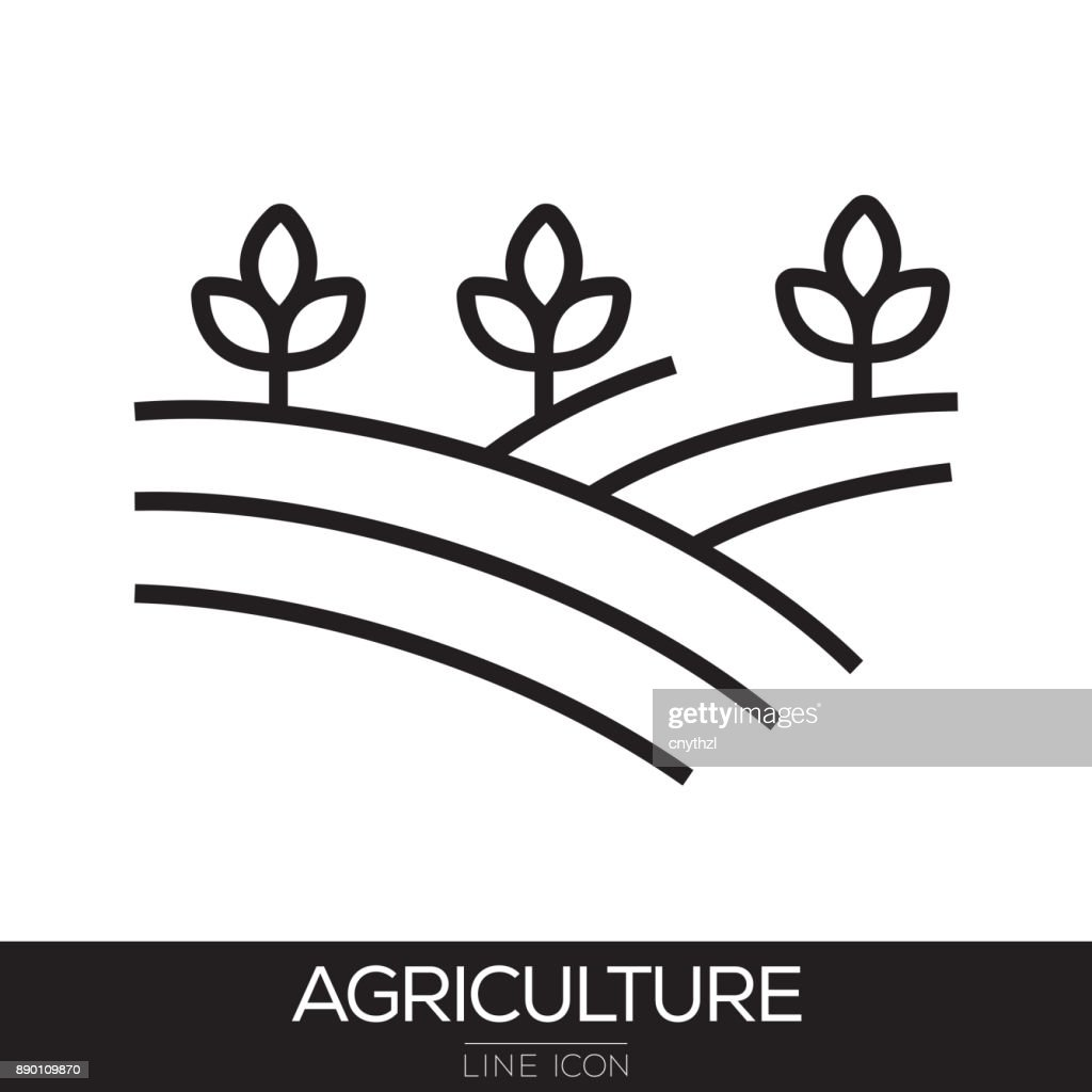 AGRICULTURE LINE ICON : Stock Illustration