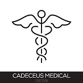 CADECEUS MEDICAL LINE ICON