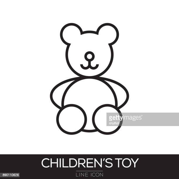CHILDREN TOYS LINE ICON
