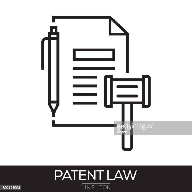 PATENT LAW LINE ICON