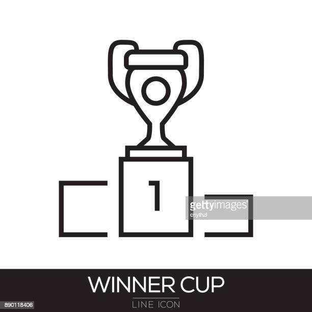 WINNER CUP LINE ICON
