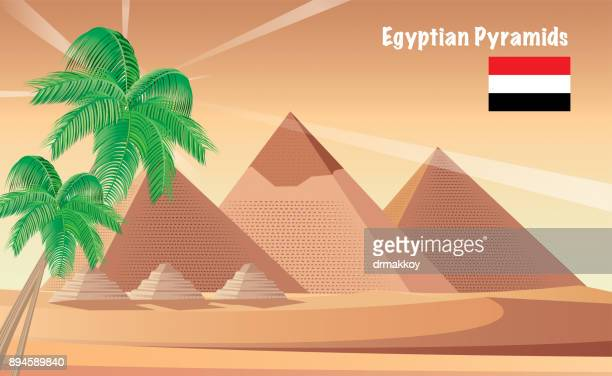 egypt pyramids - mycenae stock illustrations
