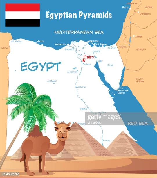 Pyramids In Egypt Map.Kheops Pyramid Stock Illustrations And Cartoons