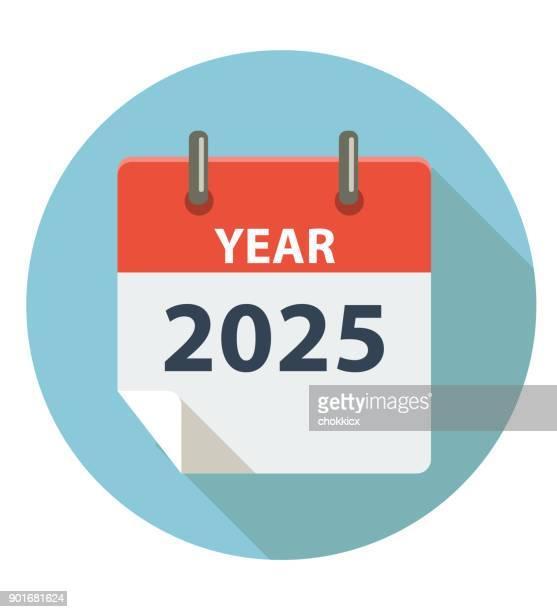 year 2025 - この撮影のクリップをもっと見る 2025 stock illustrations