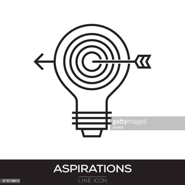 aspirations line icon - practicing stock illustrations, clip art, cartoons, & icons