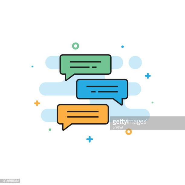chat concept - text messaging stock illustrations, clip art, cartoons, & icons