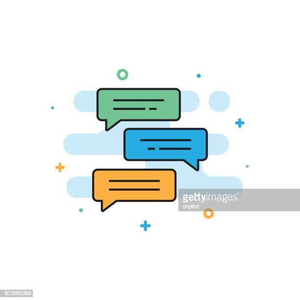 ilustrações, clipart, desenhos animados e ícones de conceito de bate-papo - mensagem de texto