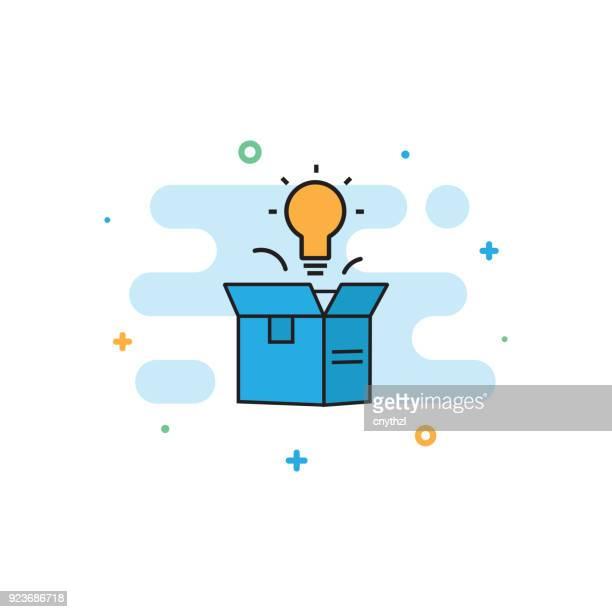 ilustrações, clipart, desenhos animados e ícones de acho que fora o conceito de caixa - embalagem cartonada