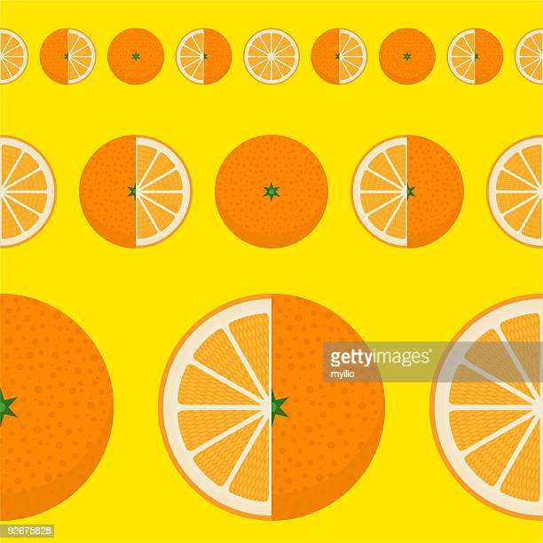 ORANGE - TANGERINE PATTERN