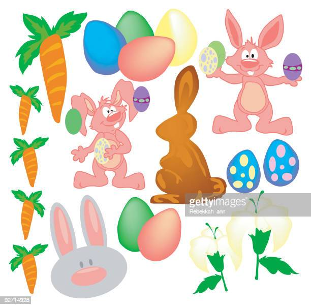 happy easter!!! - easter lily stock illustrations