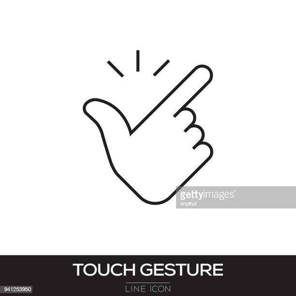 TOUCH SCREEN GESTURE LINE ICON