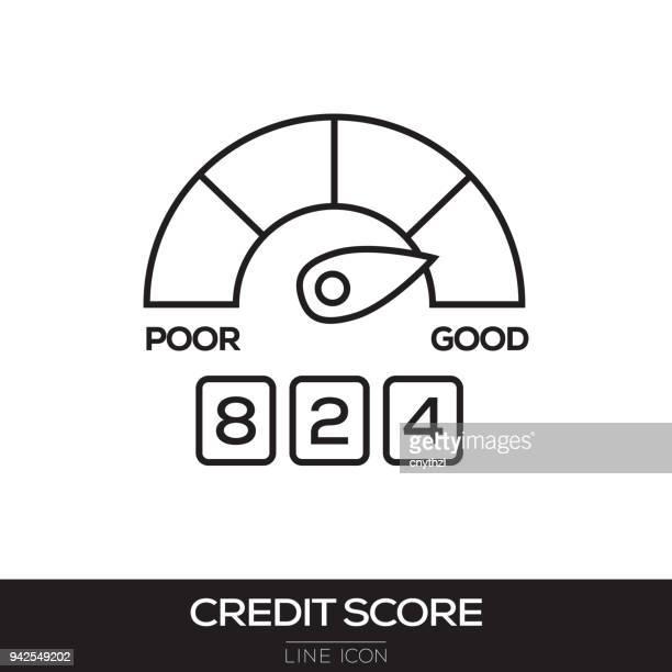 ilustraciones, imágenes clip art, dibujos animados e iconos de stock de icono de línea de crédito - impuestosobrelarenta