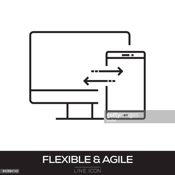 FLEXIBLE AND AGILE LINE ICON