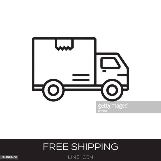 FREE SHIPPING LINE ICON