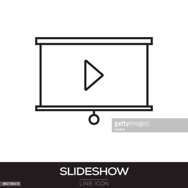 SLIDESHOW LINE ICON