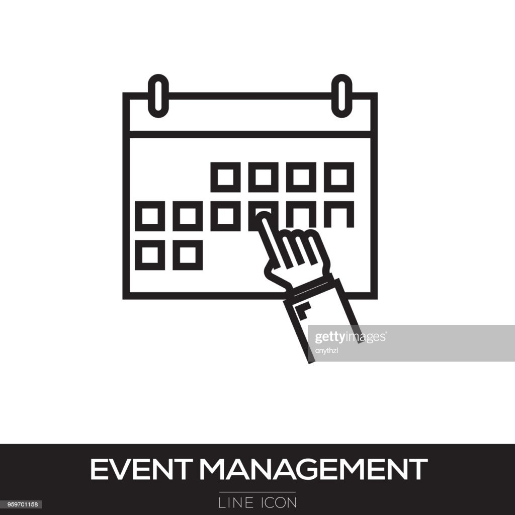 EVENT MANAGEMENT LINIENSYMBOL : Stock-Illustration