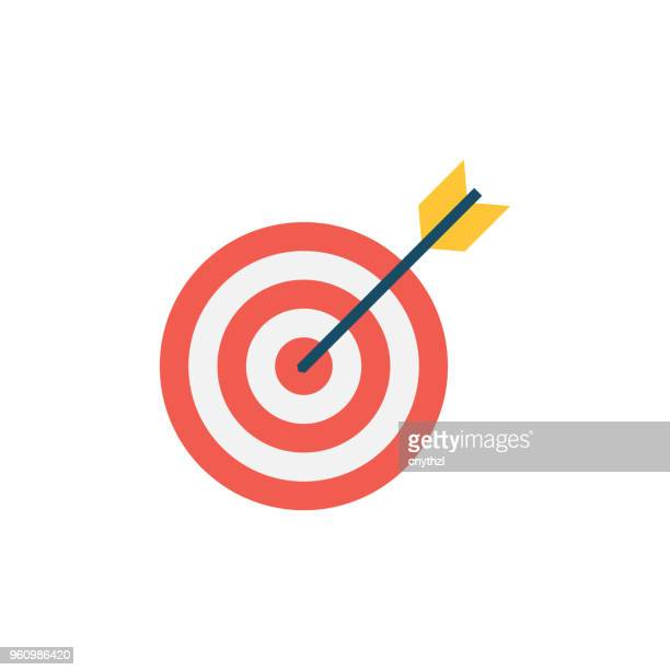 target flat icon - aiming stock illustrations