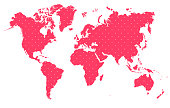 MAP WORLD WITH POLKA DOTS