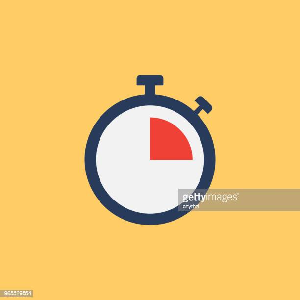 deadline flat icon - sportkleding stock illustrations