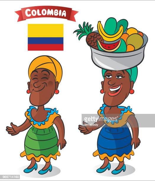 colombia woman - colombia stock illustrations