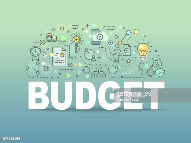 stockillustraties, clipart, cartoons en iconen met begroting - budget