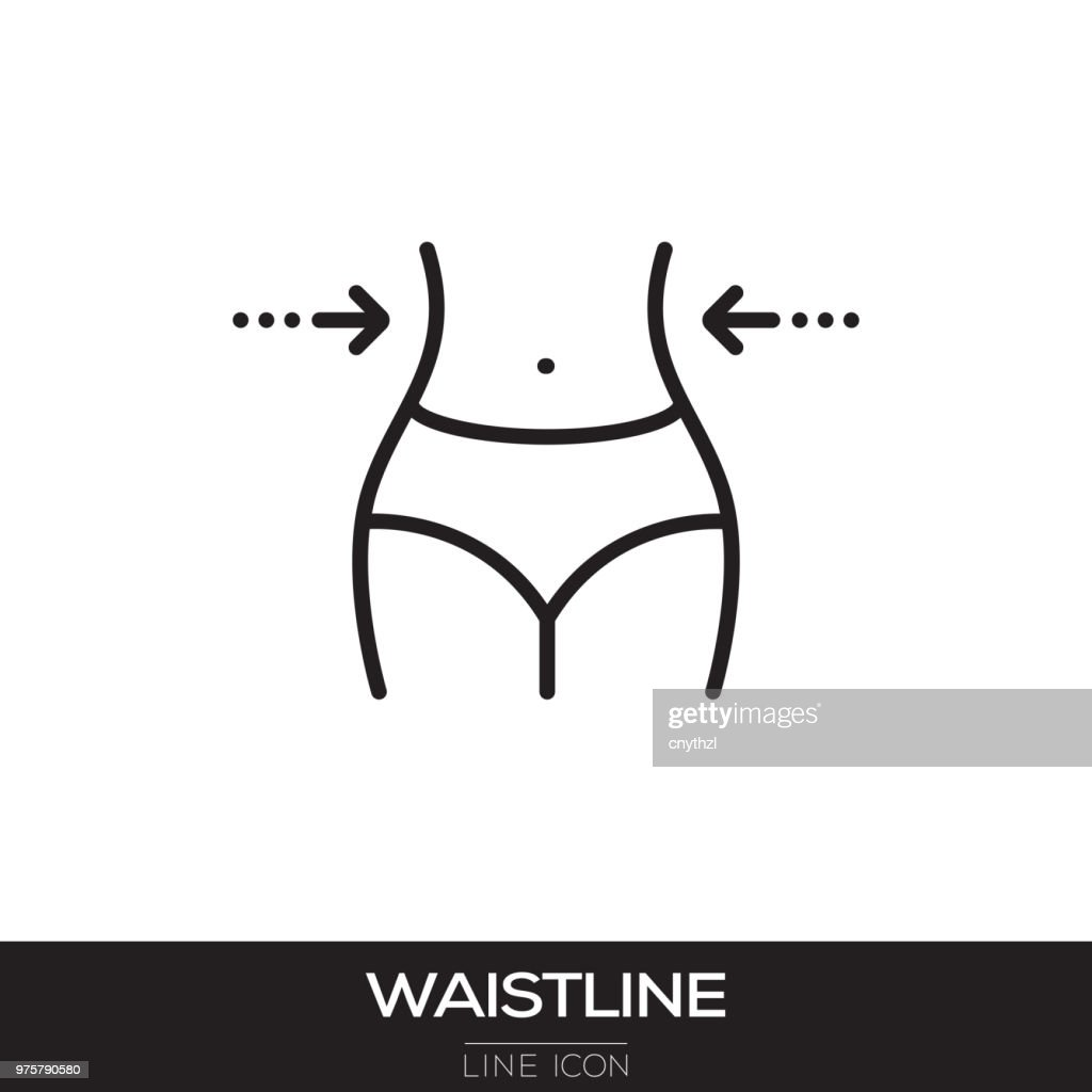 WAISTLINE LINE ICON : Stock Illustration