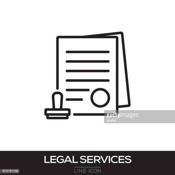 LEGAL SERVICES LINE ICON