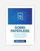 GOING PAPERLESS ICON INFOGRAPHIC