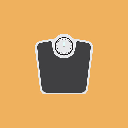 WEIGHT SCALES FLAT ICON - gettyimageskorea