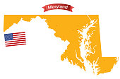 VECTOR MARYLAND MAP
