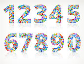 0-nine Numbers with Social Networking & Internet Color Buttons