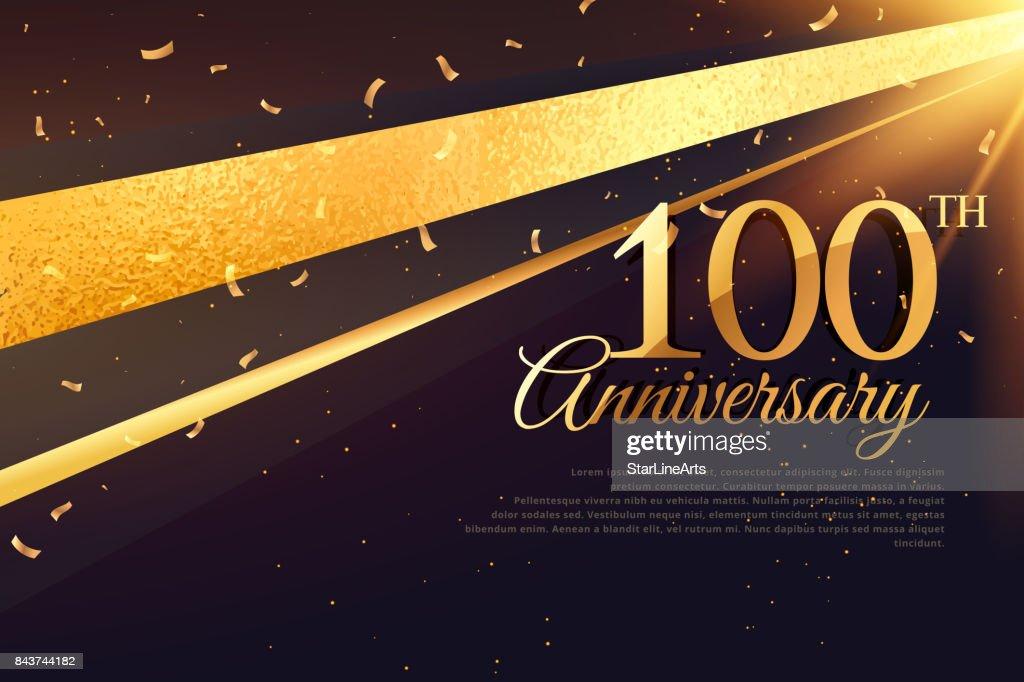 100th anniversary celebration card template
