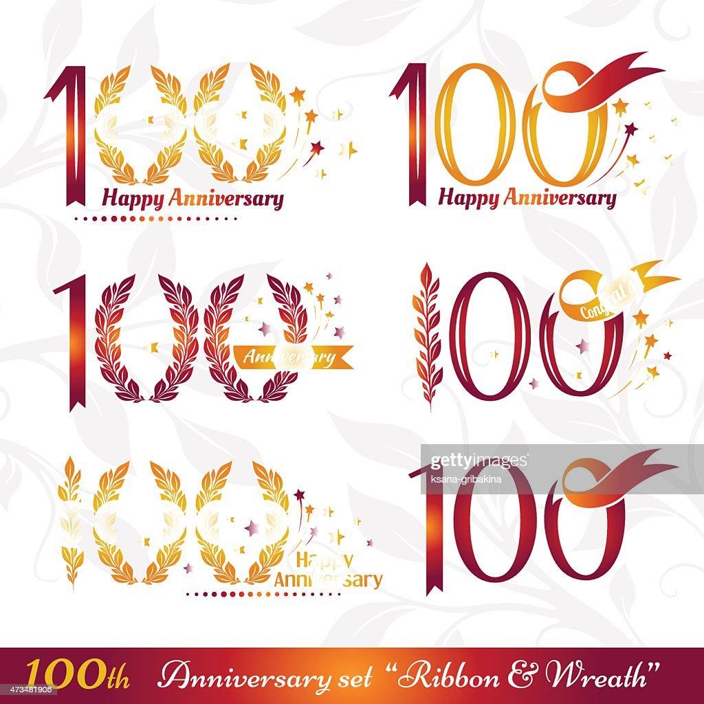 100th anniversary emblems