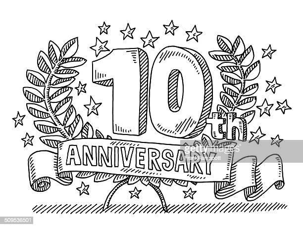 10 周年記念のバナーの描出