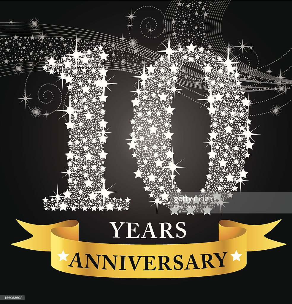 10th anniversary vector art getty images - Color of th anniversary ...