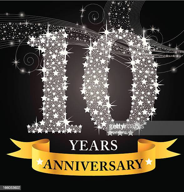 10. jähriges jubiläum - 10 11 jahre stock-grafiken, -clipart, -cartoons und -symbole