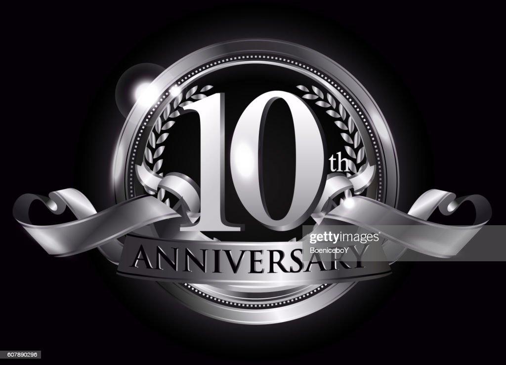 10th silver anniversary logo