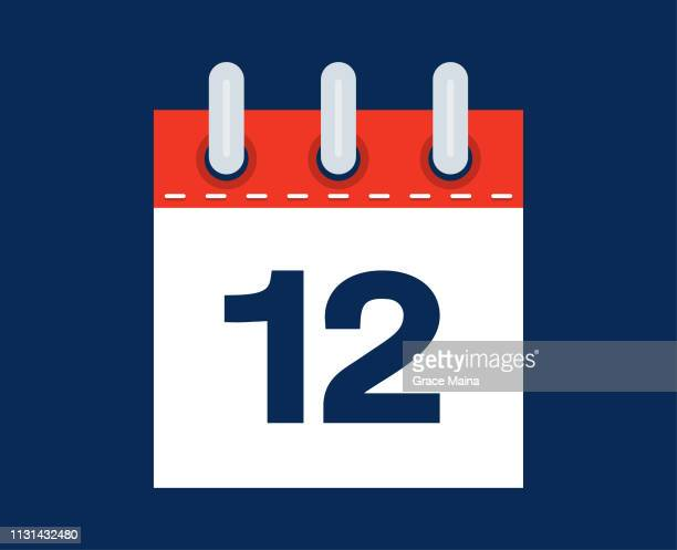 12th Calendar Date Of The Month - vector