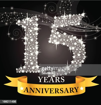 15th anniversary vector art getty images - Th anniversary symbol ...