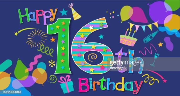 16 歳の誕生日の挨拶 - 30歳の誕生日点のイラスト素材/クリップアート素材/マンガ素材/アイコン素材