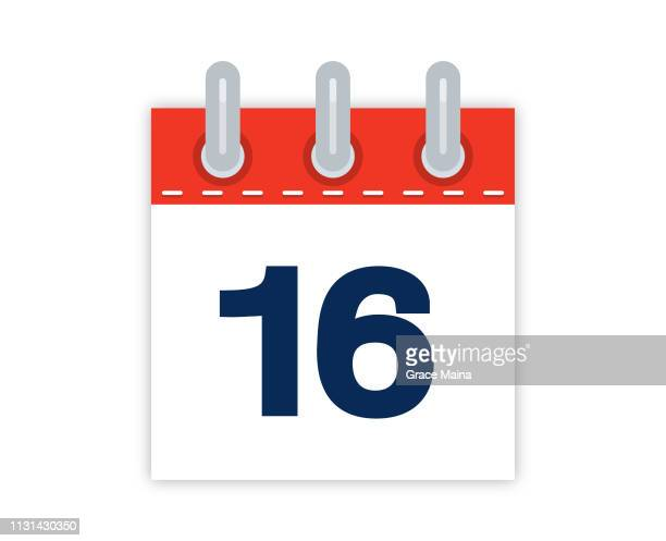 16th Calendar Date Of The Month - vector