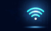 190201_01_Abstract futuristic technology background wifi