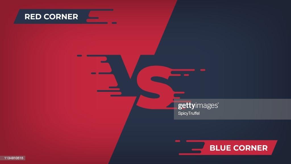 1902.m30.i020.n003.F.c06.1112416277 Versus background. Sport competition VS poster, game fight battle duel concept, blue red team design. Vector versus comparison poster