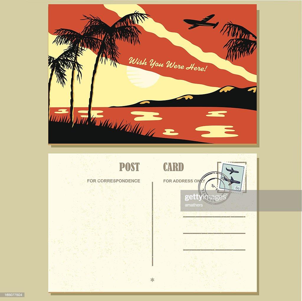 1940s Style Postcard