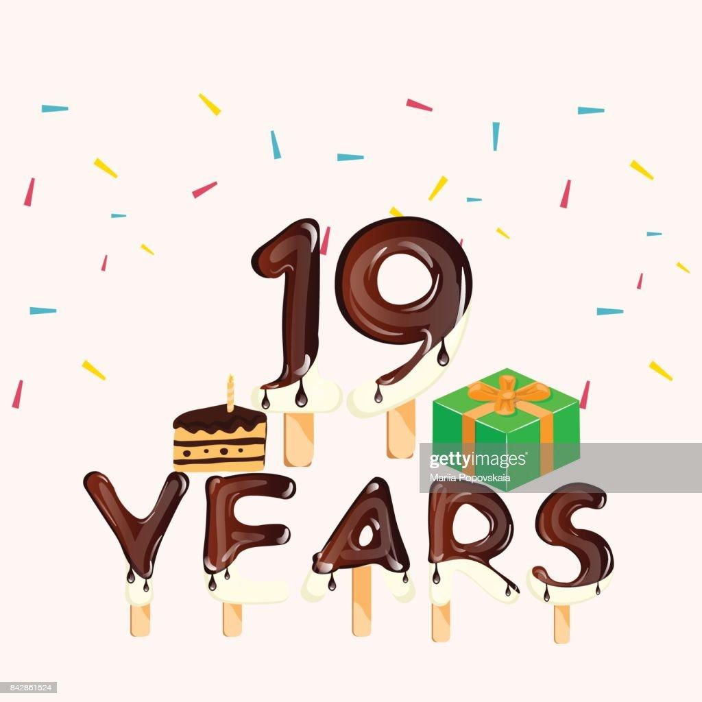 Carte Danniversaire 19 Ans Joyeux Anniversaire Illustration Getty Images