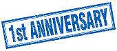 1st anniversary square stamp