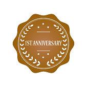 1st anniversary stamp illustration