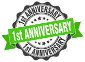 1st anniversary stamp. sign. seal