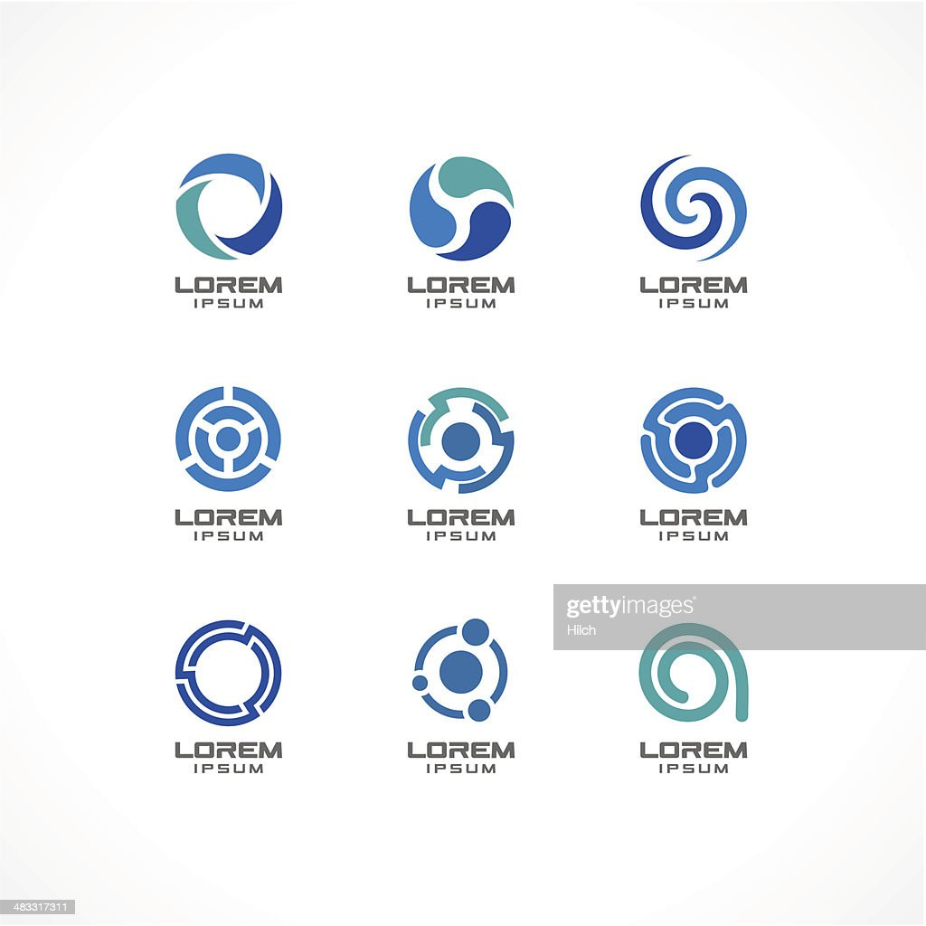 1.\tSet of icon design elements. Abstract logo ideas for business