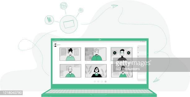 20200331_ill_workfromhomevector - clipart stock-grafiken, -clipart, -cartoons und -symbole